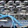 Shelby Cobra engine details at the 2009 Lime Rock Vintage Car Festival. This is one of my favorite automotive photos...I love the chrome stacks, the blue wiring, the overall detail.