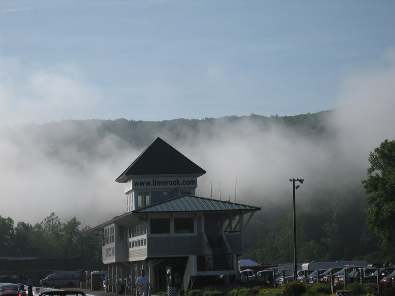 View of the Lime Rock control tower at a PCA HPDE 2010.