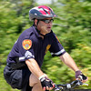 Suffolk County Police cyclist during a Wounded Warrior ride.