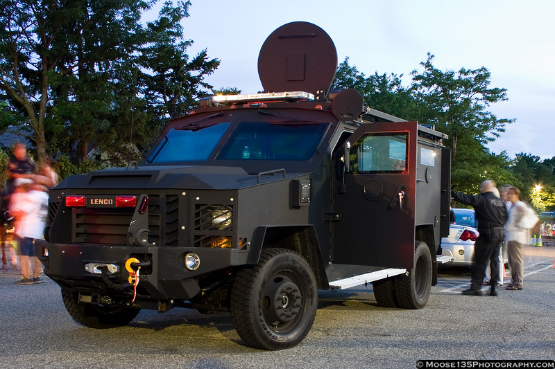 Lenco Bearcat armored vehicle of the Nassau County Police Department's Bureau of Special Operations.