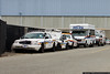 Damaged Hempstead Police cars at the Nassau County Police garage.