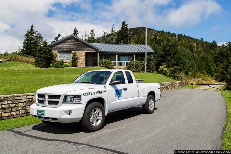 North Carolina State Parks Ranger Dodge Dakota at Mount Mitchell