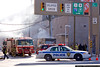 Port Authority Police on the scene of a fire in Jersey City, NJ.