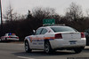 Nassau County Highway Patrol Charger on the Long Island Expressway.