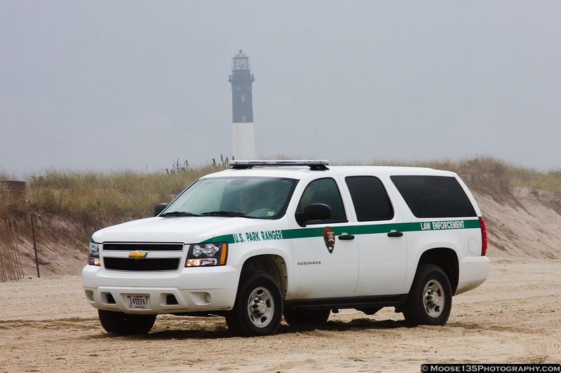 US Park Ranger at Fire Island.