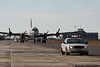 US Park Service Police escorts Berlin Airlift Historic Foundation C-54 at Floyd Bennett Field.