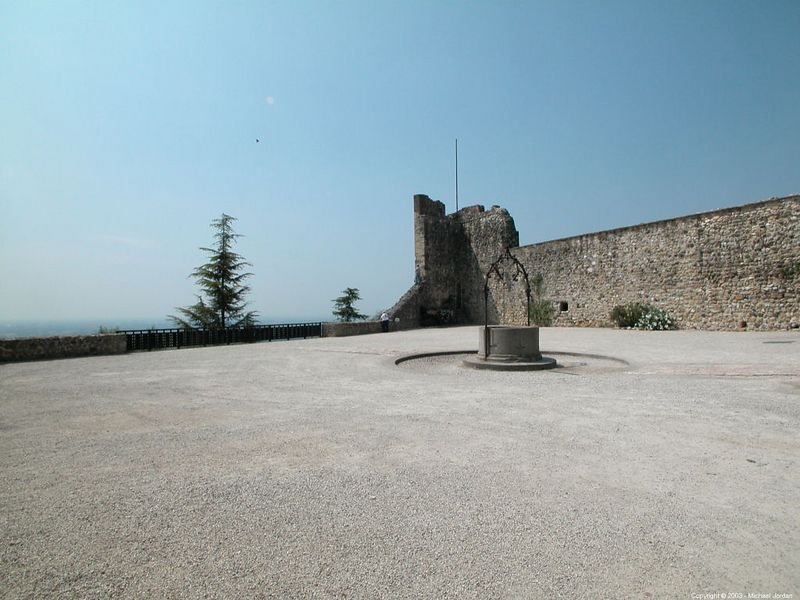 Upper castle courtyard