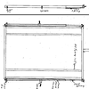 Sketch of design by Ken Kaplowitz. This sketch shows the beam pivot further behind the spindles than that of trailer in the photo. A closer pivot would provide more leverage when lifting the bed from the lay down position.