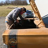 1969 Superbee emerges from the trailer for an initial cleaning.
