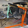 Lenny replaces the stock front suspension with a gasser leaf spring suspension