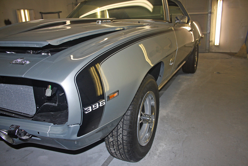 69 Camaro ready for final assembly and interior