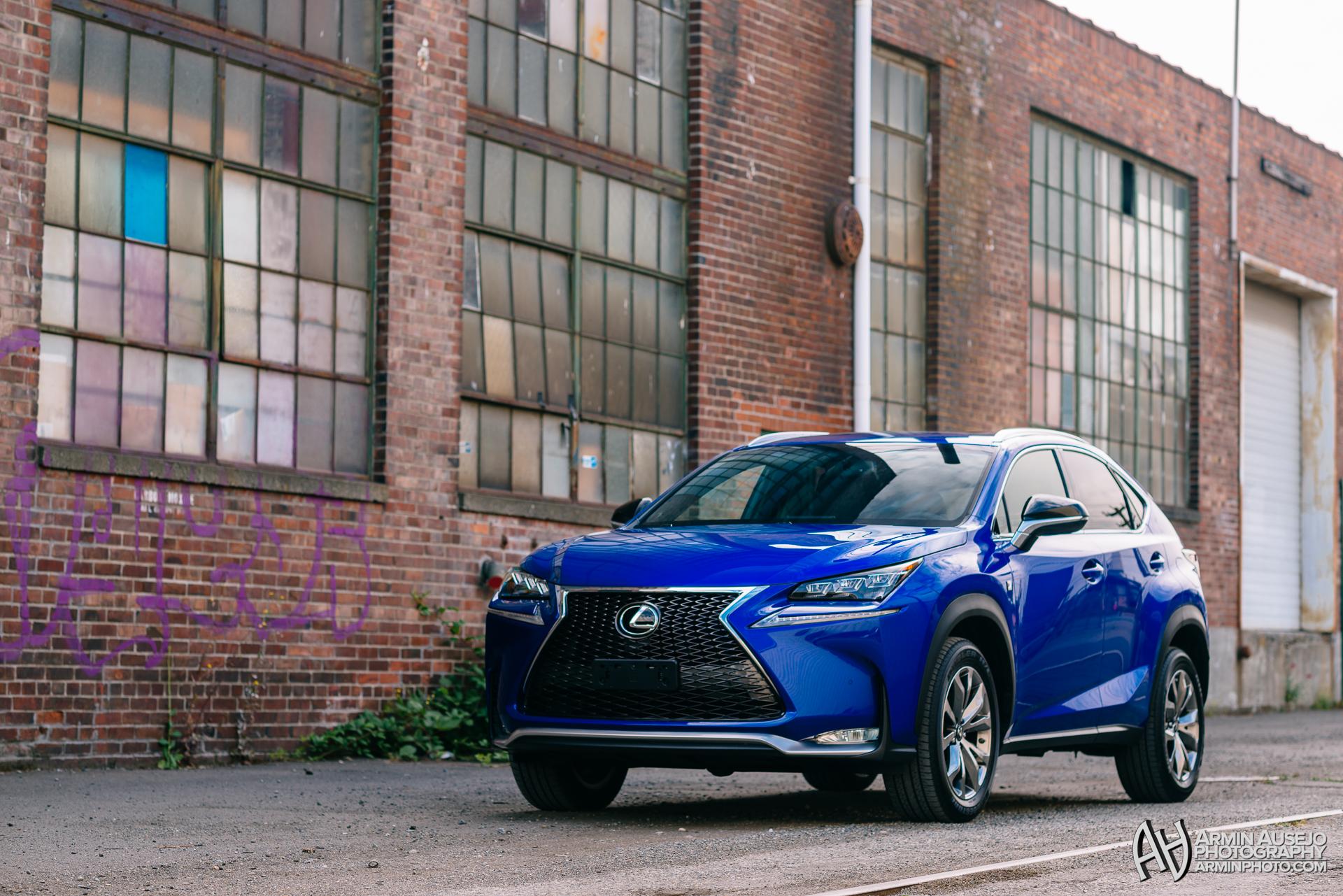 Lexus NX F-Sport in Ultrasonic Blue Mica