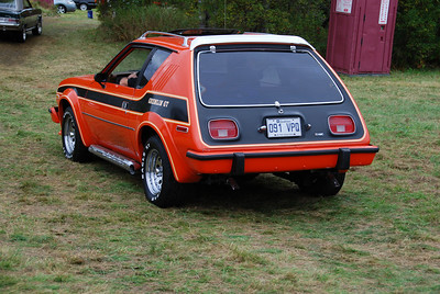 I took me a while but I finally found the spot where the actual show was being held. Unfortunately, Saturday's portion is short; most of the cars were leaving to do a foliage tour. My friends stayed behind to relax.  This orange 1978 Gremlin upset me. I very nearly bought one on eBay, thinking that I'd be the only one in every show I attended. By Sunday though, I was glad this car was here. Much of the fire for this car went out of me. Perhaps I should say it moved to something else...
