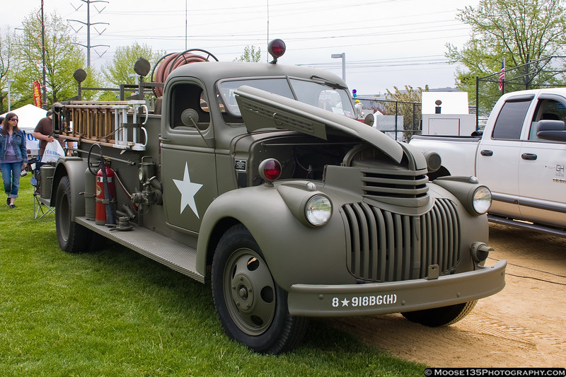 American Airpower Museum's military firetruck.