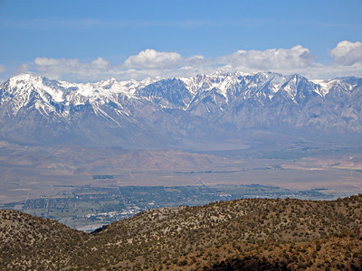 Looking west across Owens Valley (Bishop in foreground).
