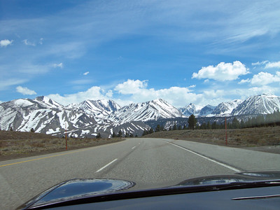 Heading in to Mammoth Lakes, CA.