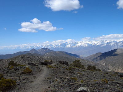 Looking southwest across Owens Valley from White Mountains (Sierra Nevada range in distance).