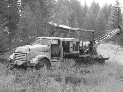 "Old time ""Professional Grade"" GMC logging truck"