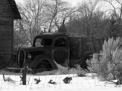 Old truck near Heise, ID