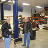 Bob Kitchen and Lyle Cordray in Lyle's shop.