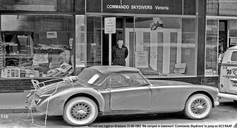 Rusty Bunworth at Commando Skydivers 'shop' in Prahan Melbourne. Die on VW ?