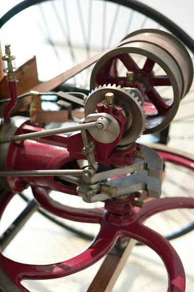 detail of early motor and flywheel