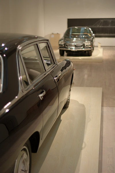 wonderful pairings in the show - Flaminia Berlina and Maserati Quattroporte