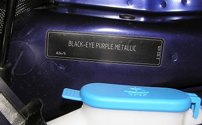 "This Purple Haze color is actually called ""Black-Eye Purple Metallic"" by the factory in Oxford, England."