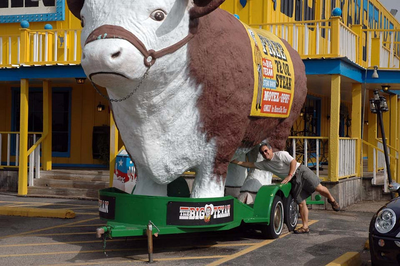 """Just checking. See  <a href=""""http://www.BigTexan.com"""">http://www.BigTexan.com</a> for more information about that free steak."""