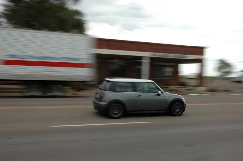Another MINI heading south.