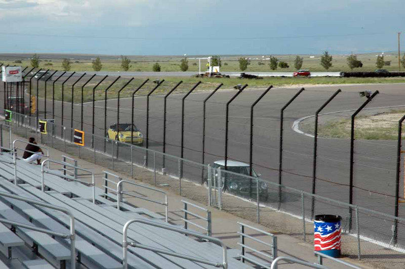 While it was raining hard in Albuquerque, the track, several miles west of town, remained dry.