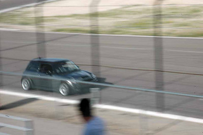A GP picking up speed on the straight away.