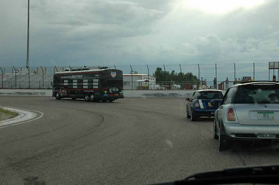 After the track driving ended, the remaining MINIs took to the track en masse for the group photo with the MINI bus.