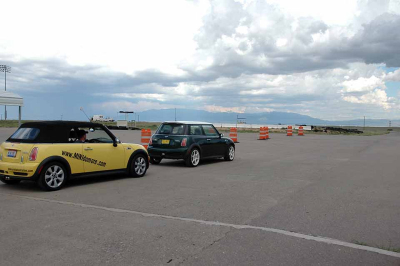 More MINIs take their turn around the track. It's great fun to see how your MINI handles, and how you handle your MINI around the controlled track environment.
