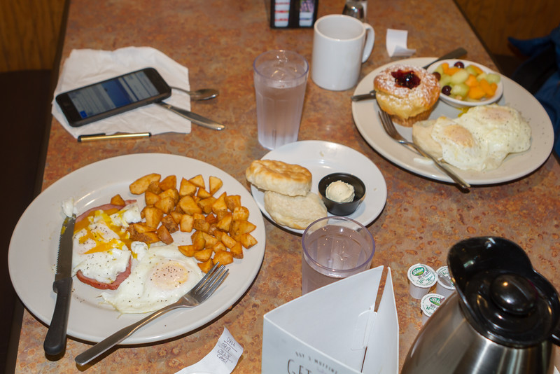 We started the second day in Loveland, CO with a Perkins' find breakfast.