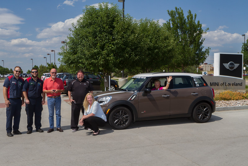 Here's the crew at MINI of Loveland who got Fenton back on the MTTS road.