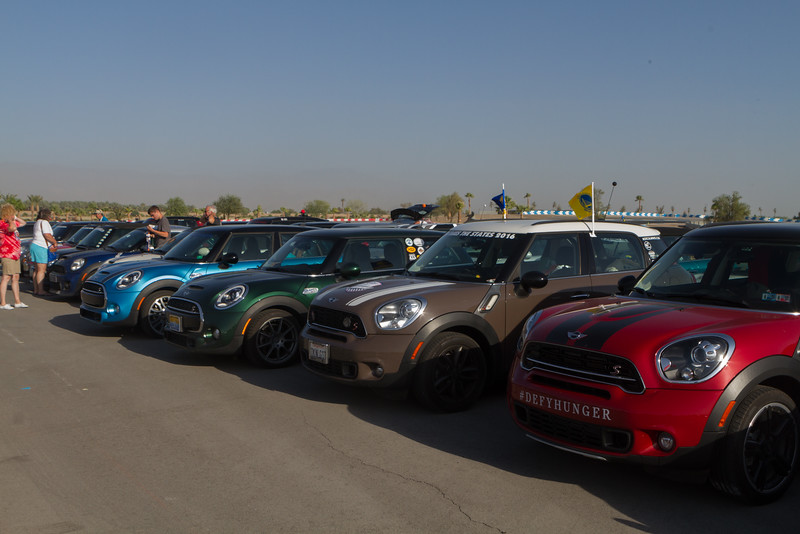 Here's Fenton (yellow and blue flags flying) and friends at the BMW Performance Center in Thermal, CA - it's HOT