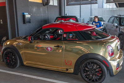 Love the coupe in 49ers red and gold!