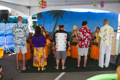 Some audience members were invited to learn the finer points of Polynesian dancing.