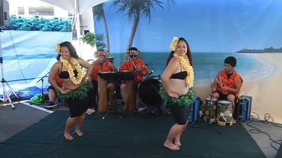 Hawaiian style dancing...