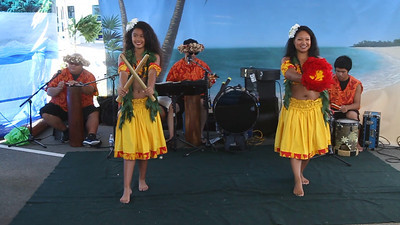 Hawaiian style dance.