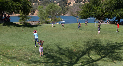 Horseshoes and Volleyball were among the available games.
