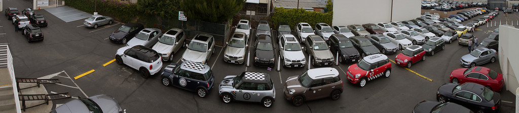 All lined up, the MINIs were waiting to go.