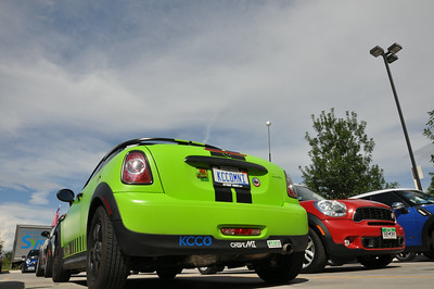 A wrapped (not painted) MINI Coupe. Grand Junction.