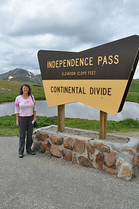 Short break at 12,095' Independence Pass, Colorado.