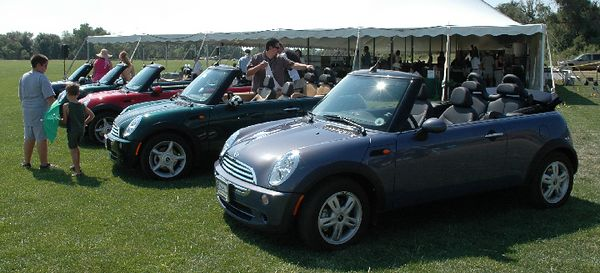 Five MINI convertibles in various colors, provided by Ralph Schomp MINI, were used to transport players to/from the playing field.