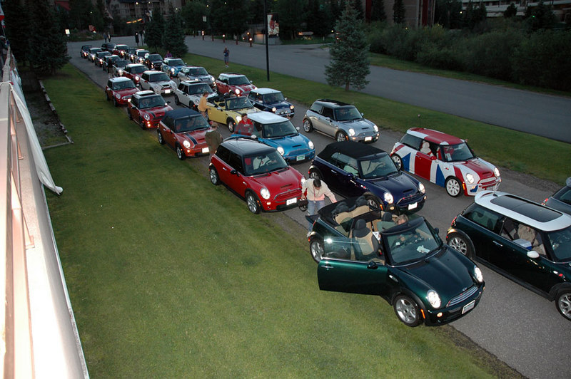 Lots of MINIs are staged and ready to go!