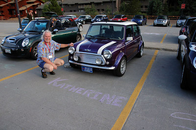 Kenn Lively and his cool classic Mini Cooper. Kenn is the president of Denver-based Minis of the Rockies (MOTR). See www.MinisRock.com.