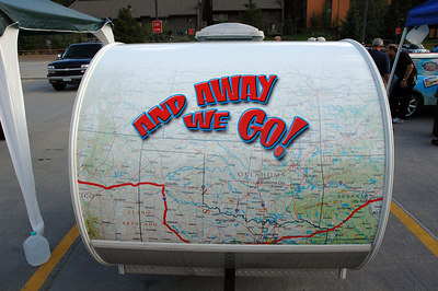 We'll be seeing the MINI-FINI MINI and trailer between Albuquerque and Amarillo on Aug. 25th, as shown on the map.