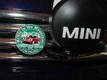 The official MITM grille badge, on the our MINI.